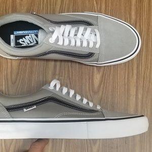vans old skool pro drizzle grey skate shoes